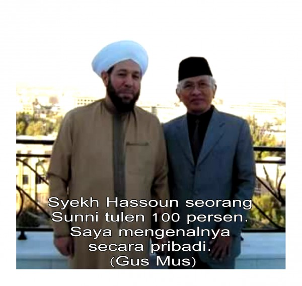 gus mus mufti suriah syekh hassoun 100 persen sunni saya kenal pribadi