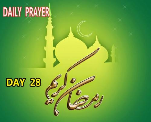 doa hari 28 bulan ramadhan