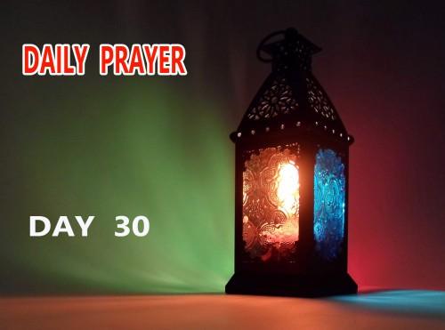 doa hari 30 bulan ramadhan