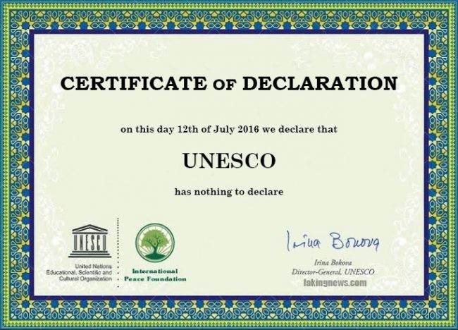 Hikmah di Balik Berita Hoax Certificate of Peace dari UNESCO
