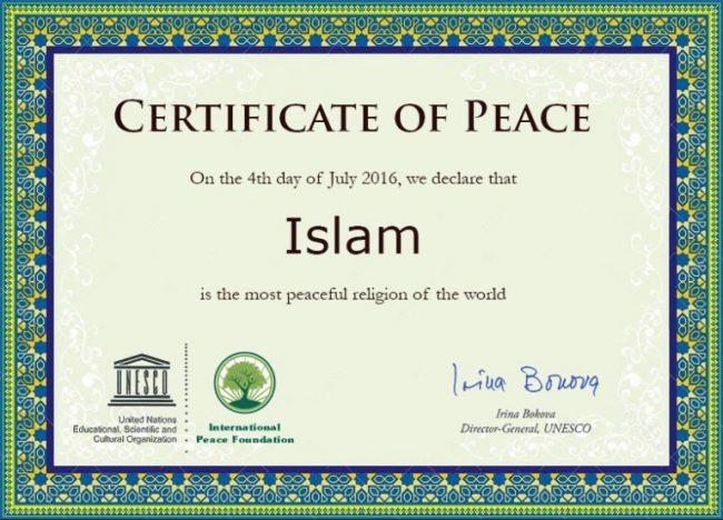 Islam Agama Paling Damai Sedunia