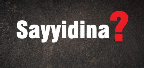Sayyidina