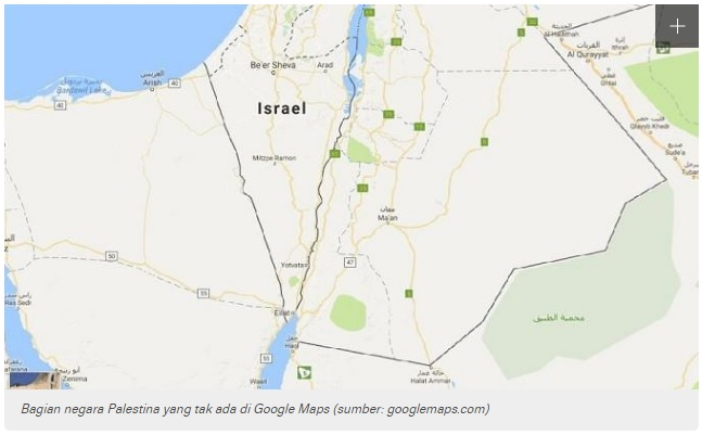 Menyoal Ulah Nakal Google Hapus Negara Palestina dari Peta