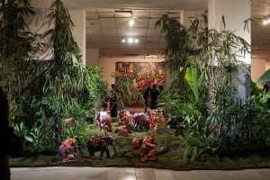 Karya instalasi Yang Terlindungi karya S Priyadi