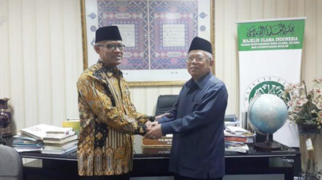 Nyatakan Dukungan, Ketum Muhammadiyah Kunjungi KH Ma'ruf Amin