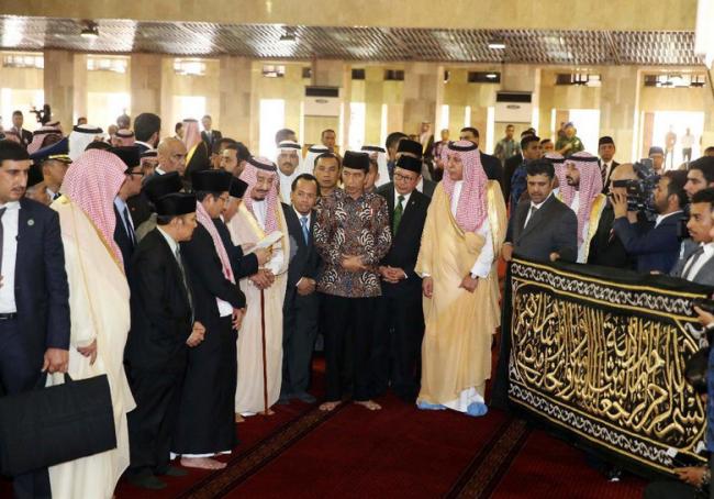 Apa Arti Potongan Ayat di Kiswah Hadiah Raja Salman untuk Istiqlal