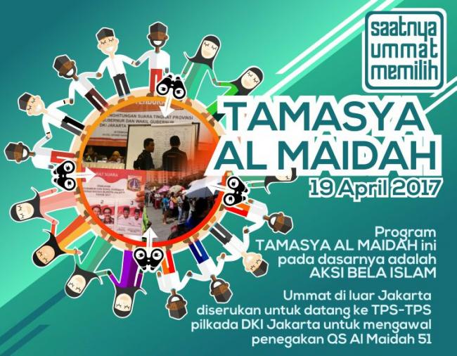 Intelijen Polda Jakarta Mengaku Bingung Soal Tamasya Al Maidah