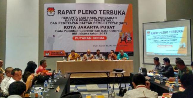 Sah! Rekapitulasi Final KPUD Jakarta Anies-Sandi 57,96% dan Ahok-Djarot 42,04%