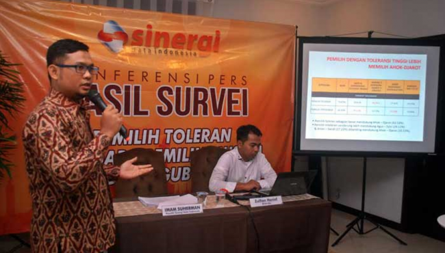 Survei Lebih 70 % Pemilih Pilkada DKI Jakarta Toleran