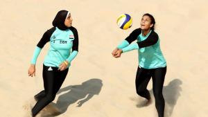 Atlet Voli Pantai Mesir Doaa Elghobashy