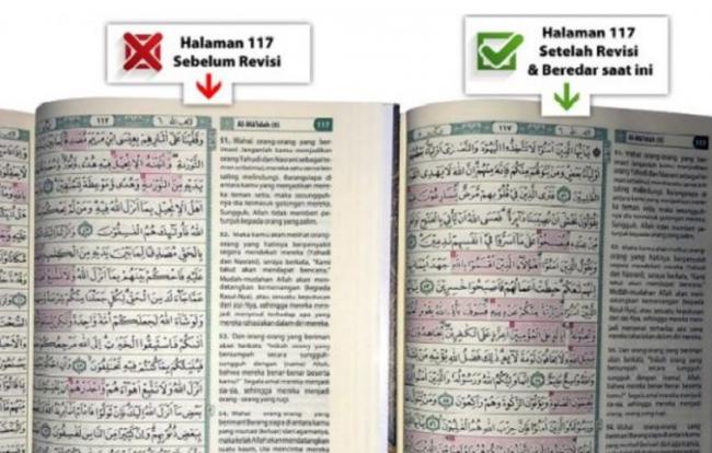 Kemenag Tegur Keras Penerbit Al-Qur'an Tanpa Al-Maidah 51-57