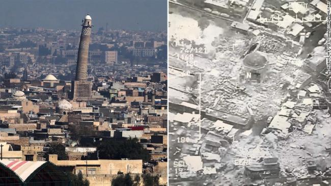 Begini Penampakan Masjid Raya Al-Nuri Mosul Pasca Diledakkan ISIS