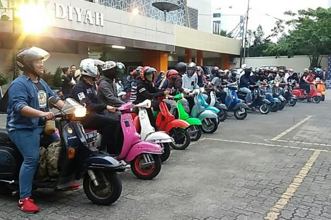 Begini Cara Pemuda Muhammadiyah Rajut Persatuan Kaum Muda Lewat Vespa