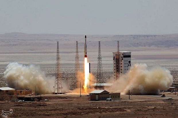 Simorgh rocket is launched and tested at the Imam Khomeini Space Centre, Iran, in this handout photo released by Tasnim News Agency on July 27, 2017. Tasnim News Agency/Handout via REUTERS