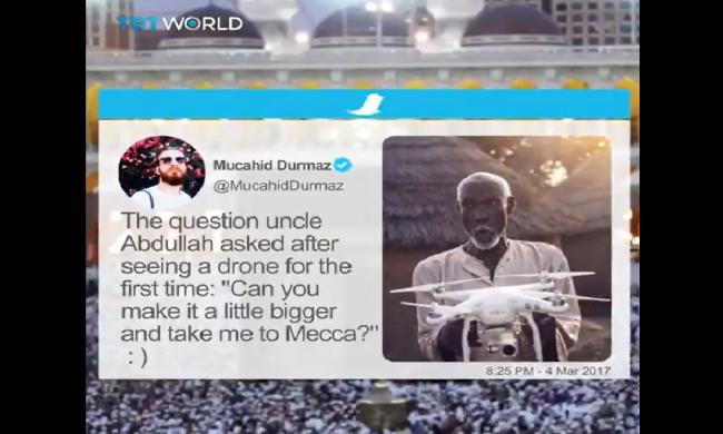 Pertanyaan Polosnya Pasca Temukan Drone, Antar Pria Tua Ini Naik Haji