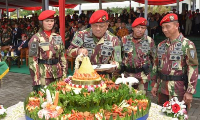 Rayakan HUT ke-72 RI, Kopassus Ajak Jaga Soliditas, Integritas dan Kebhinekaan