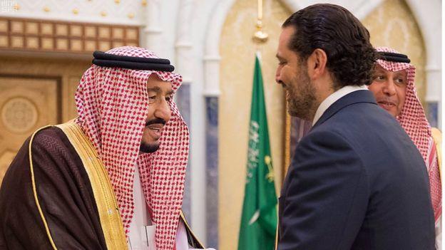 Saad al-Hariri bertemu dengan Raja Salman di Arab Saudi pada 30 Oktober 2017. Photo: EPA