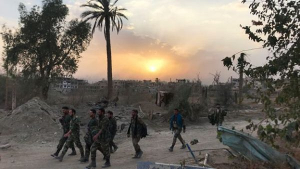 Perlahan tapi pasti pasukan Suriah membebaskan hampir seluruh wilayah dari ISIS. Photo: Getty Images
