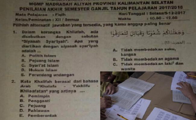Gerak Cepat Kemenag Sikapi Kontroversi Soal Ujian Madrasah Terkait Khilafah