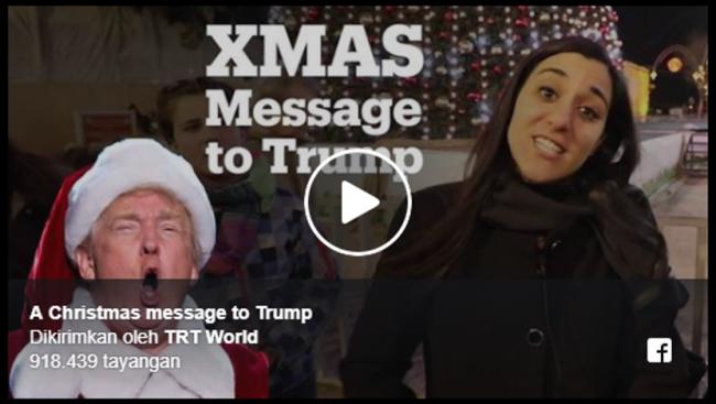 VIDEO – Pesan Natal 'Pedas Spesial' Dari Warga Palestina Untuk Trump