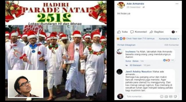 Unggah Meme Ulama Berkostum Santa, Ade Armando Kembali Dipolisikan