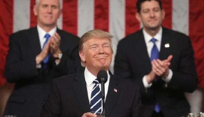 Dalam Pidato Kenegaraan Pertamanya, Trump Sebut Indonesia Musuh Amerika