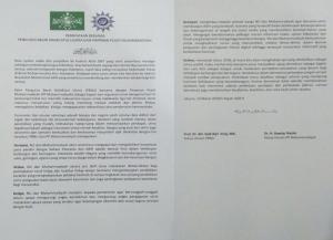 Pernyataan Bersama PBNU-PP Muhammadiyah
