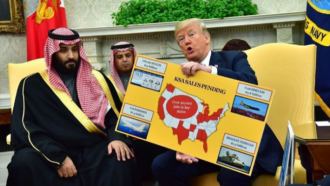 Trump Rayu Saudi Berbagi Kekayaan dengan Beli Senjata AS