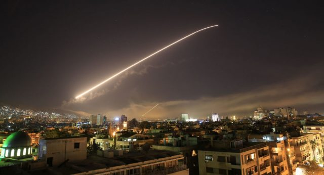 Serangan Rudal ke Suriah. Photo: Hassan Ammar/AP