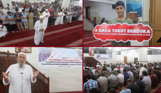 Lombok Dilanda Gempa, Warga Palestina Gelar Shalat Gaib dan Doa Bersama