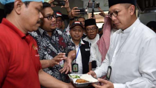 Menag Tinjau Kesiapan Dapur Katering Jemaah Haji