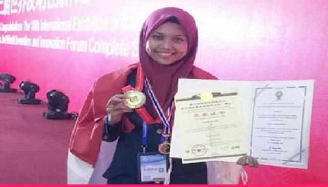 Mahasiswi Undip Jebolan MTs Raih Emas di Ajang Inovasi Internasional