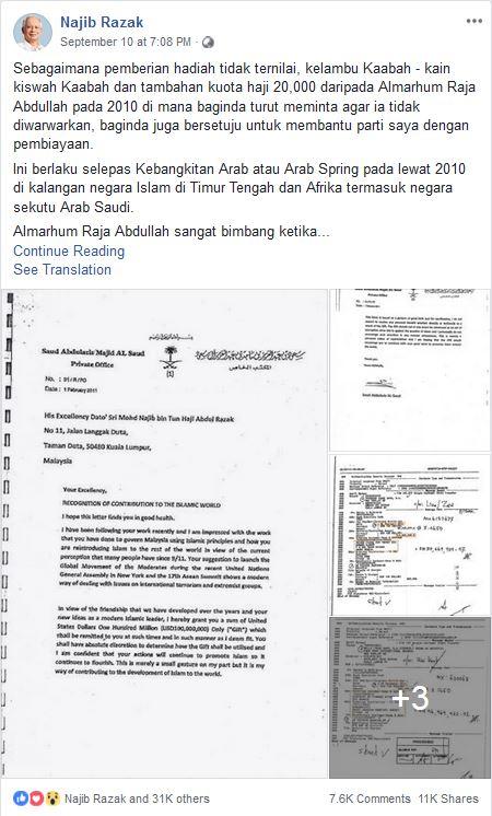 Najib Razak Rilis Dokumen