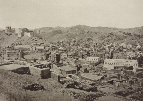 Kota suci Mekkah pada tahun 1887. Photo: Al Sayyid Abd al Ghaffar / Library of Congress