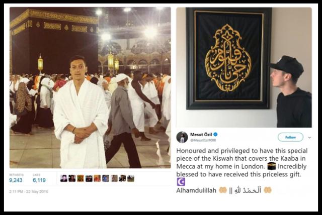 Potongan Kiswah Ka'bah di Rumah Mesut Ozil
